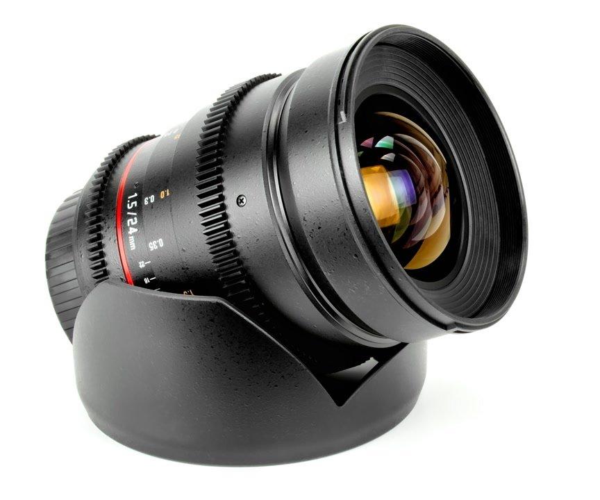 Samyang 24mm / t1.5 VDSLR Objektiv mit Mod 0.8 (Nikon F FX/DX).