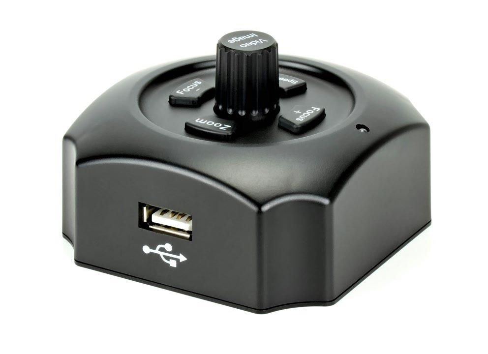Grosser USB Stecker zum Anschluss an Canon DSLR.