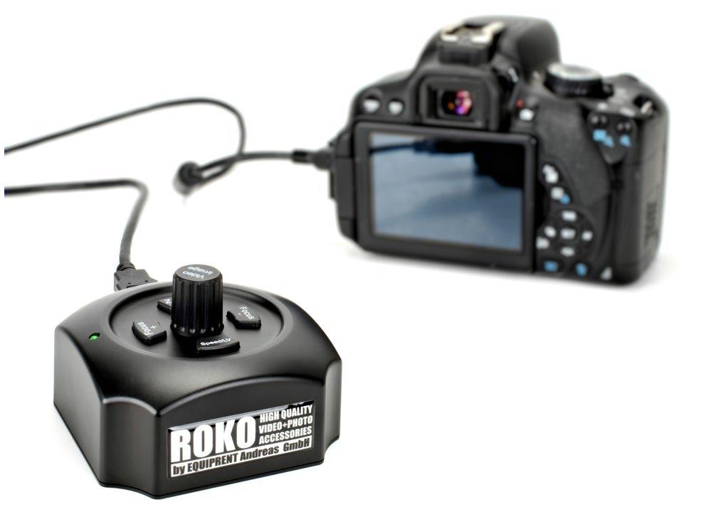 USB Follow Focus an Canon 650D angeschlossen.