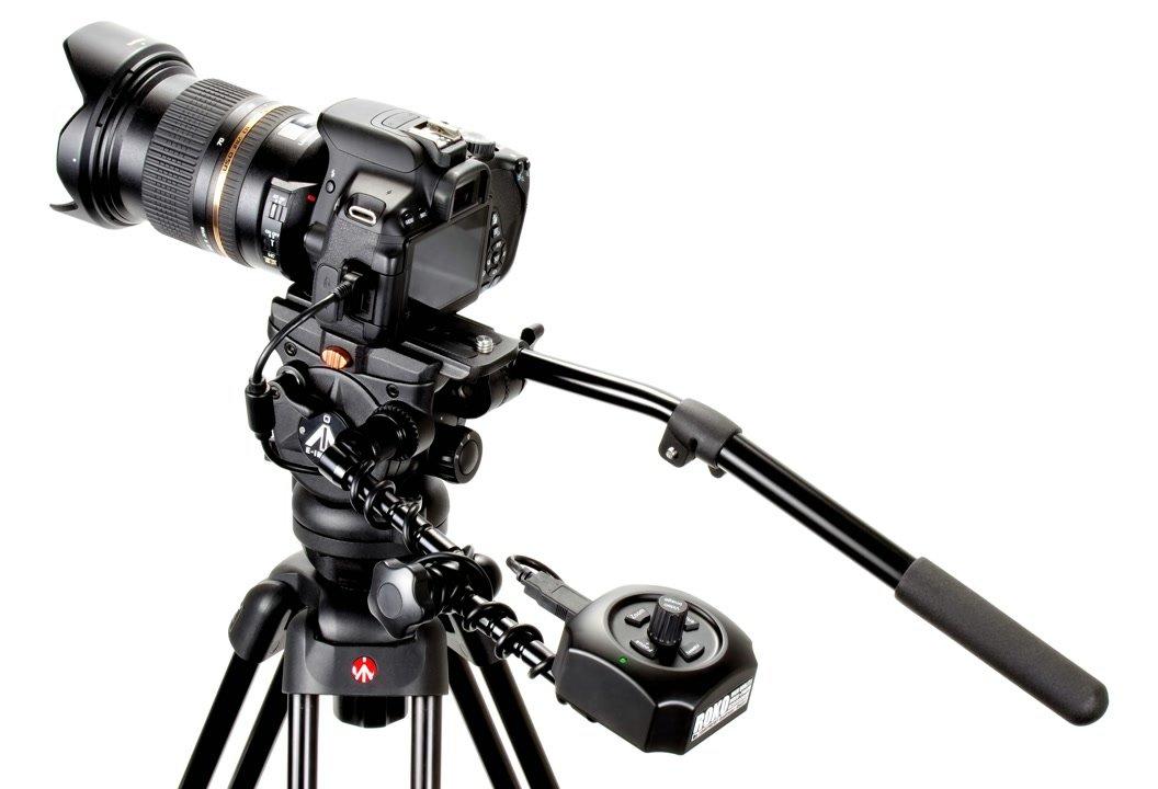 Canon 650D auf Stativ mit USB Fernbedienung.