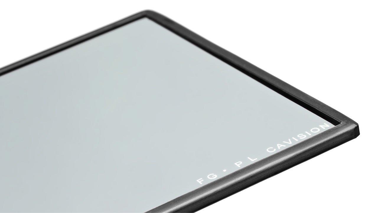Cavision Pol Filter mit schwarzem Rahmen.