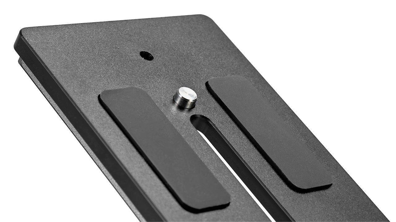 Anti-Twist Pin auf der Lanparte Schnellwechelplatte.