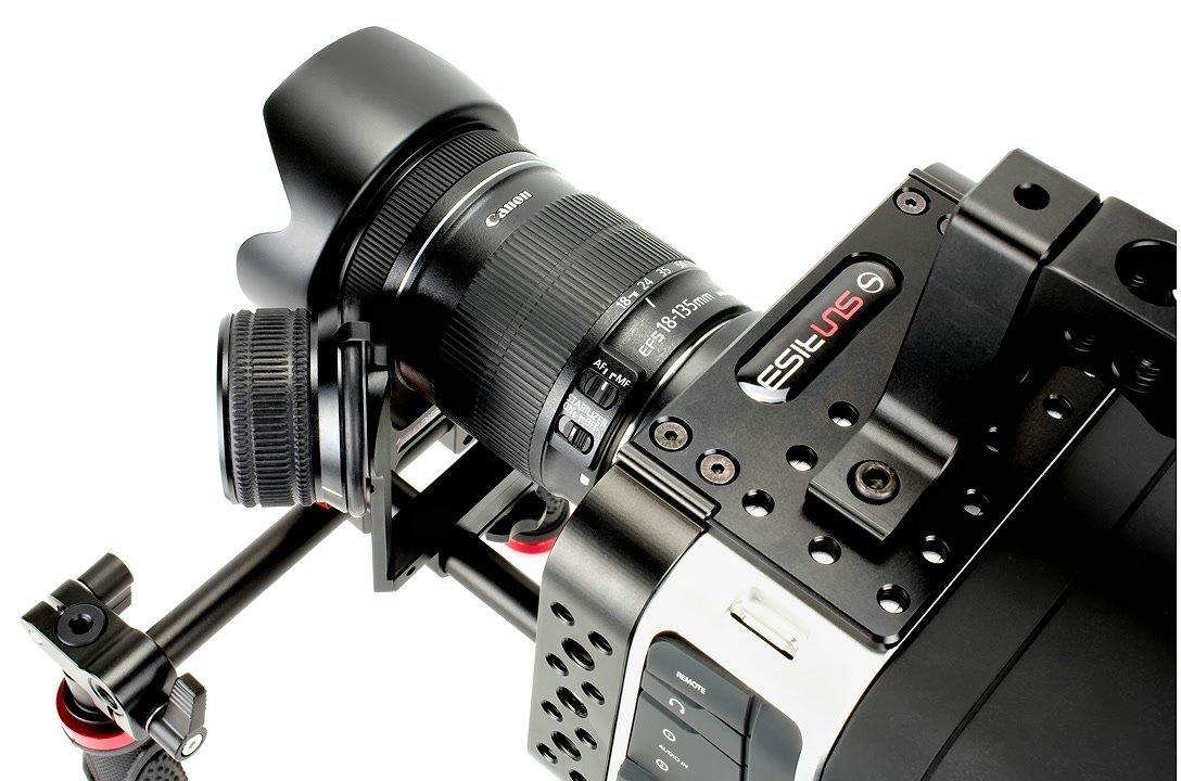 Sunrise Friction Follow Focus mit Canon EF-S Objektiv.