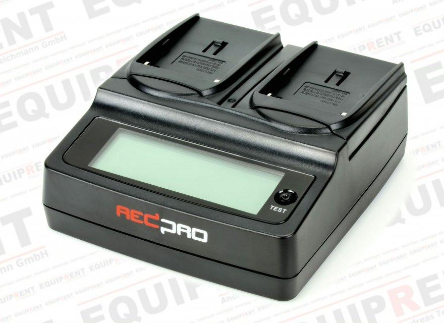 REDPRO RD-DC20NPF Ladegerät für Sony NP-F / NP-FM / NP-QM Akkus.