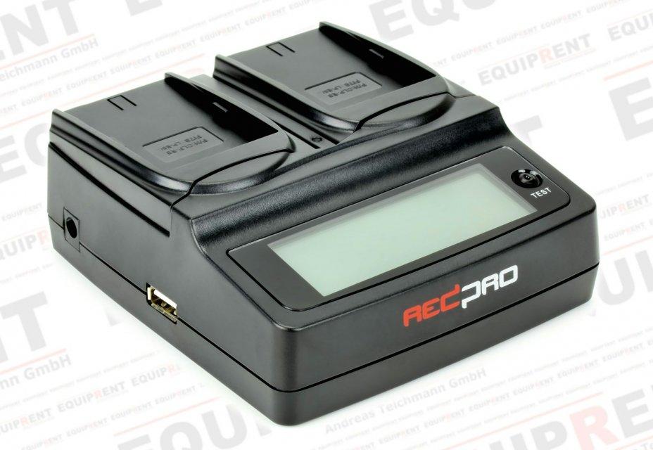 REDPRO RD-DC20E6 paralleles Ladegerät für Canon LP-E6 Akkus.