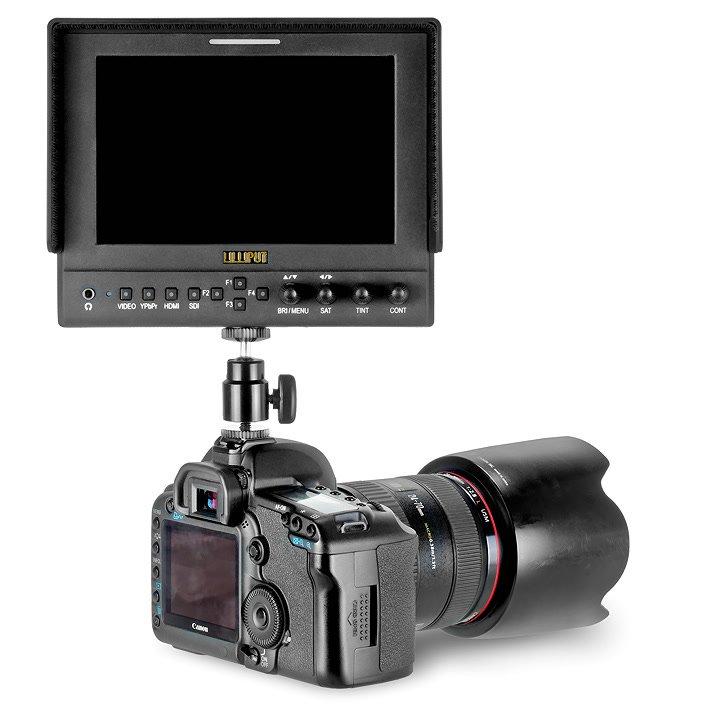 ROKO BH15 Kugelkopf mit Monitor auf Canon 5D Mark II.