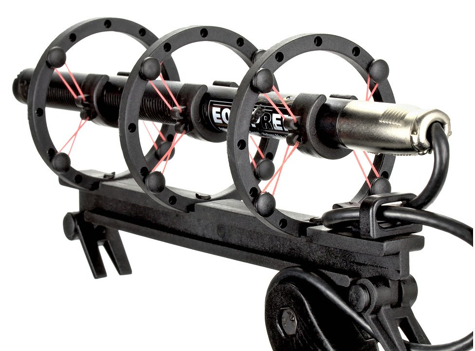 Die dreifache Aufhängung sorgt für optimalen Halt des Mikrofones.