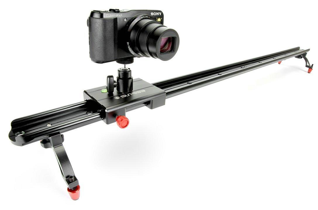 Sunrise TS-703 Ultra Flat Portable Slider für DSLR/Fotokameras (100cm).