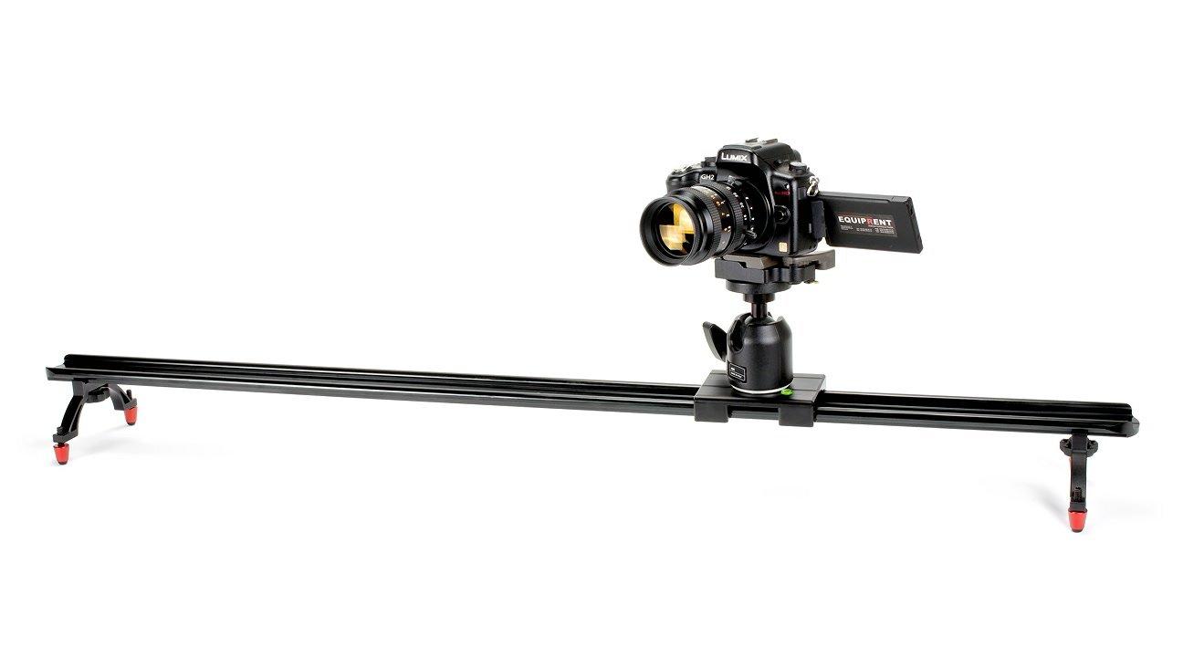 Der Slider eignet sich auch für grössere Systemkameras wie Panasonic GH2 oder GH4.