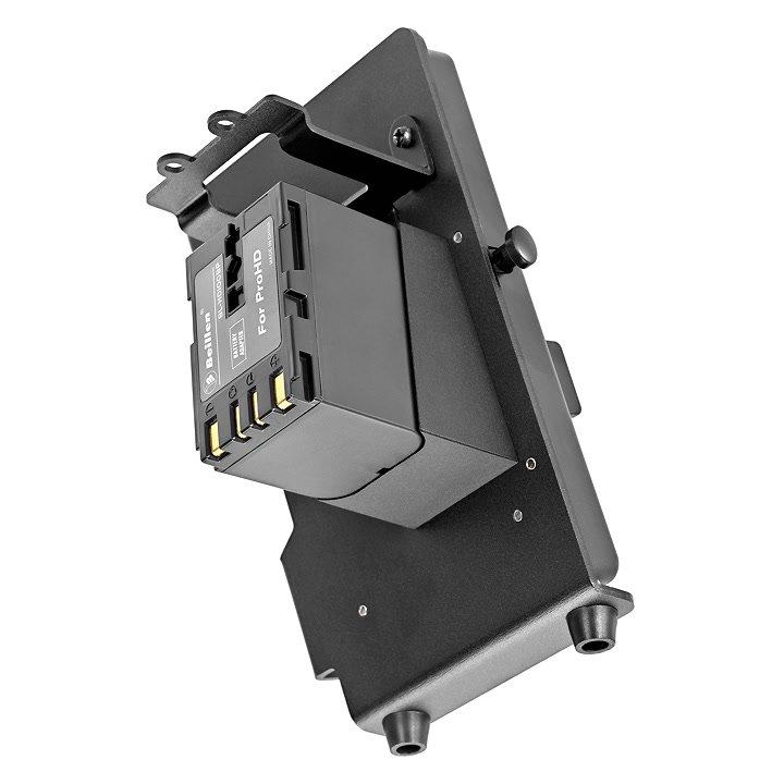 Beillen JVC V-Lock Adapter von unten.