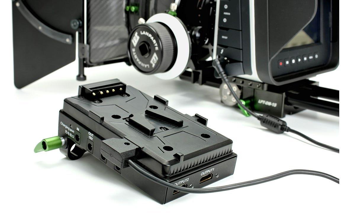 Lanparte VBP-01 mit ROKO BMCC D-Tap Stromkabel.