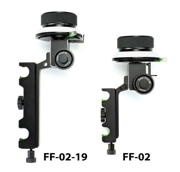 Grössenvergleich FF-02 und FF-02-19 Follow Focus.