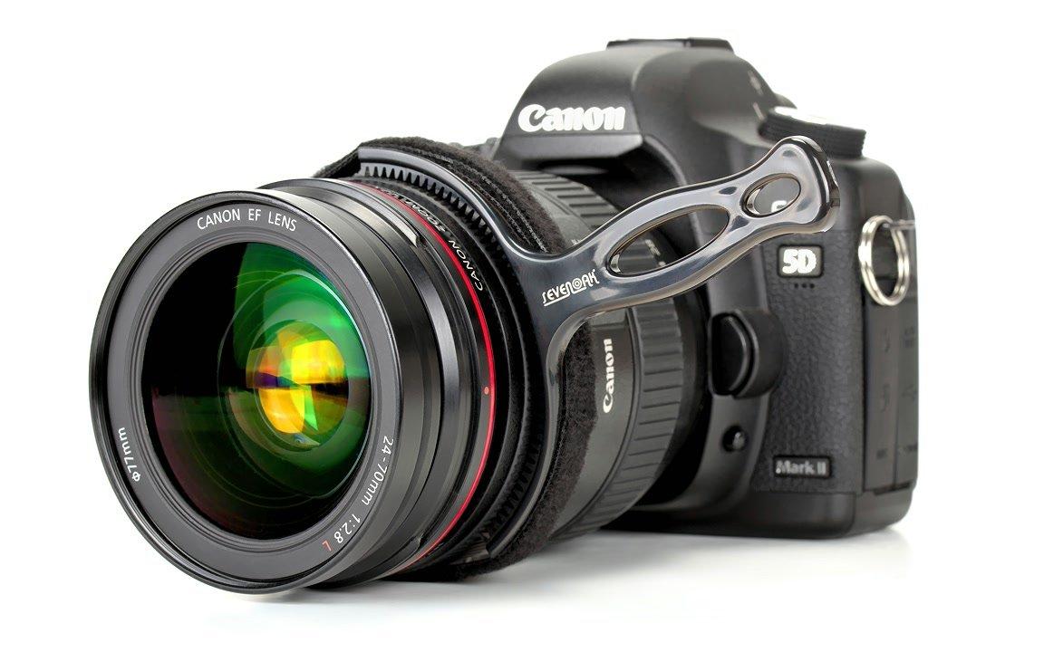 SevenOak Schärfehebel auf Canon 24-70mm Objektiv.