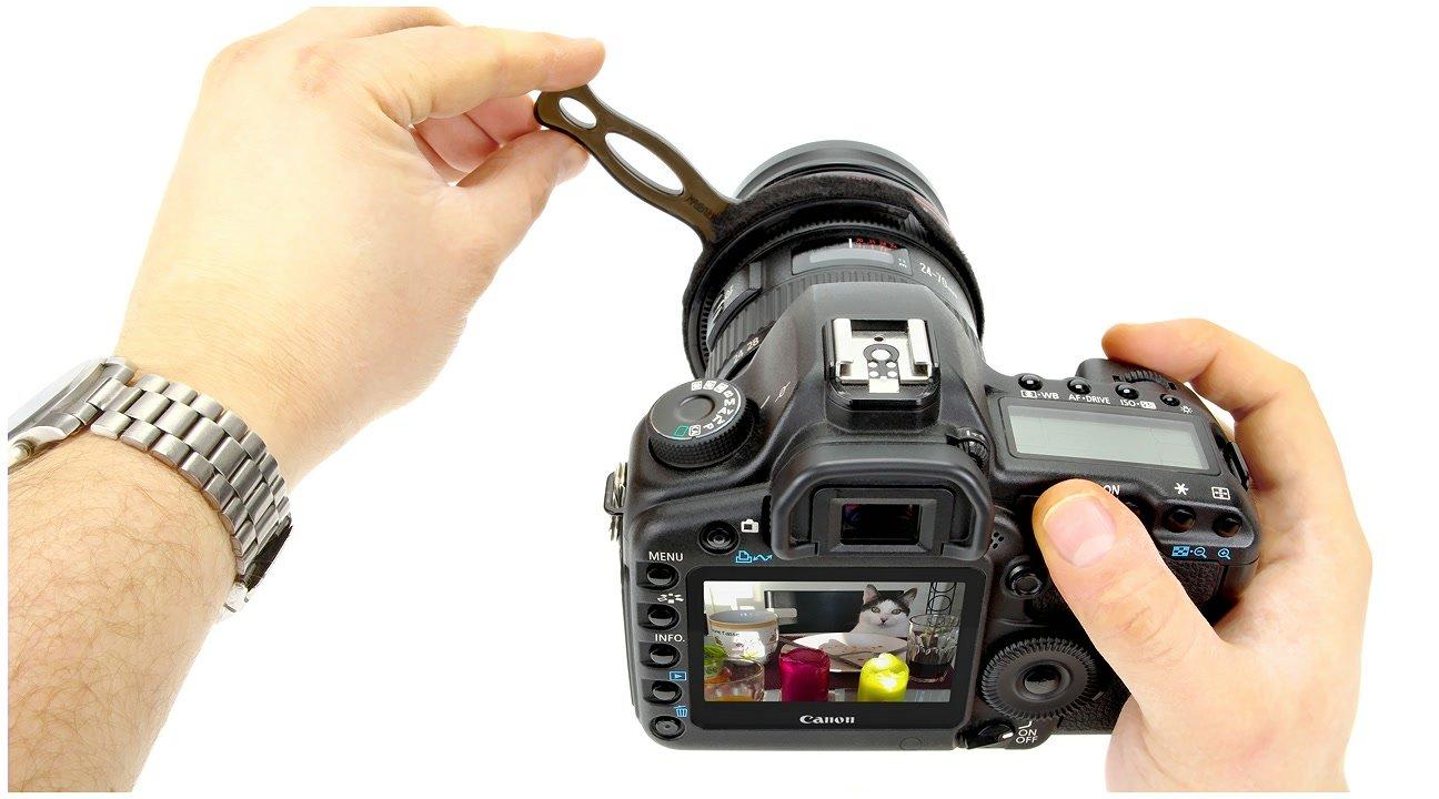 SevenOak Schärfehebel mit Canon Kamera.