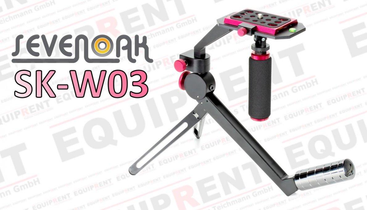 SevenOak SK-W03 kompakte Steadycam für DSLR von 0.5 bis 2.2kg.
