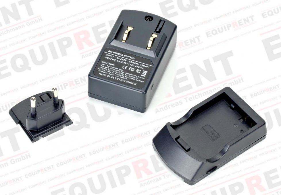 Einzelteile des ROKO D1B-LPE8 Ladegerätes für LP-E8 Akkus.