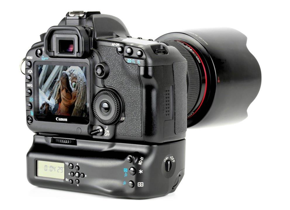 Aputure BP-E6II Batteriegriff mit Timerfunktion für Canon 5D Mark II.