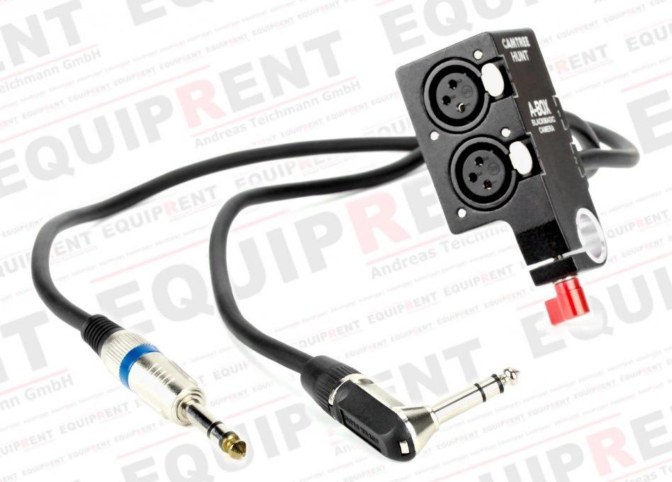 Camtree A-Box für BMCC (passiver XLR auf 6.3mm Klinke Audioadapter).