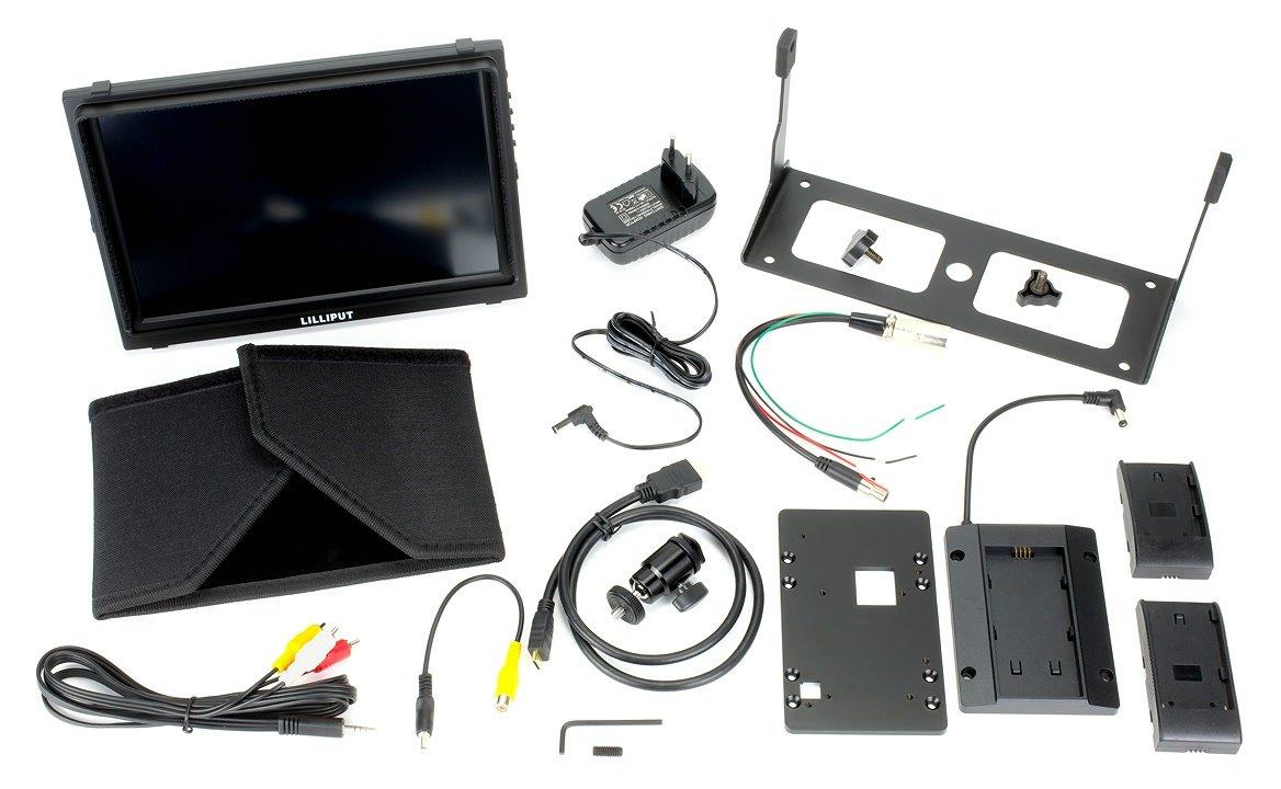 Lieferumfang Lilliput TM-1018 S/P Monitor mit HD-SDI.