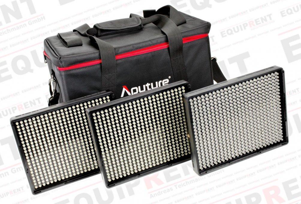 Aputure Amaran AL-528 CCS LED Leuchten Set (2x BiColor 1x Spot).