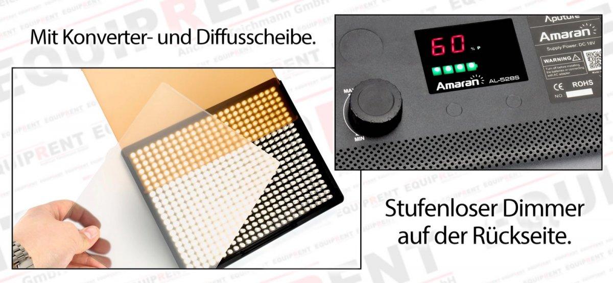 Aputure Amaran AL-528 CCS LED Leuchten Set (2x BiColor 1x Spot) Foto Nr. 4