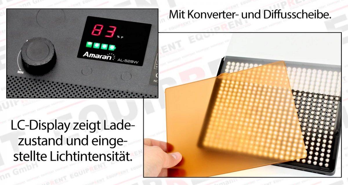 Aputure Amaran AL-528 SWW LED Leuchten Set (2x Tageslicht 1x Spot) Foto Nr. 4