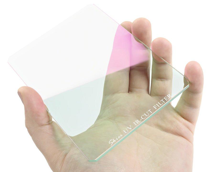 IR CUT 4x5.65 Filter in Hand.