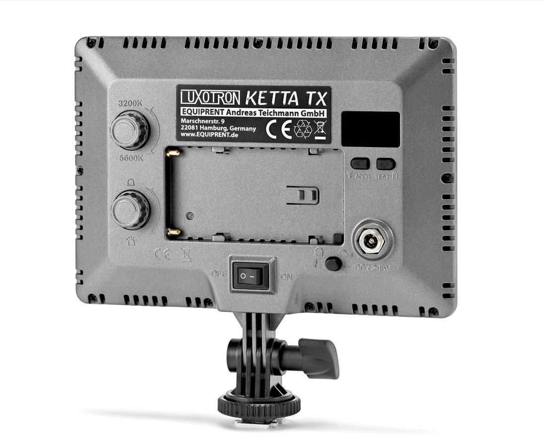 Rückseite Luxotron Ketta TX LED Leuchte.