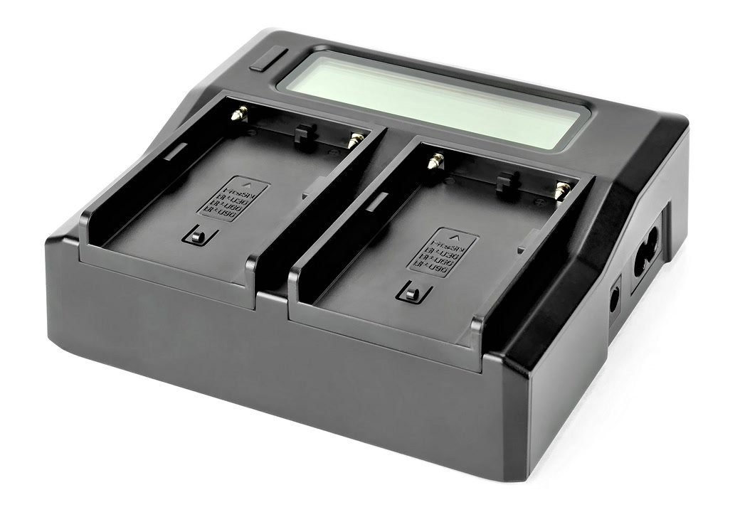 ROKO TC2-BPU Ladegerät für zwei Sony BP-U Akkus.