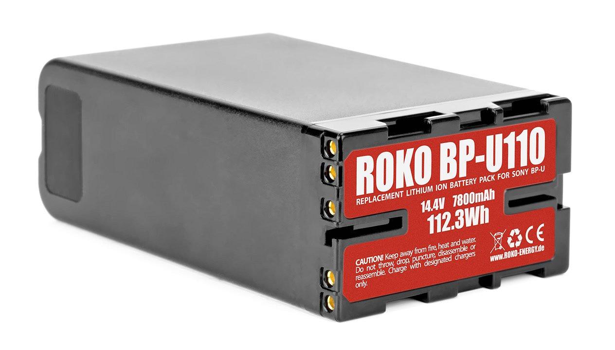 Typenschild ROKO BP-U110 Akku.