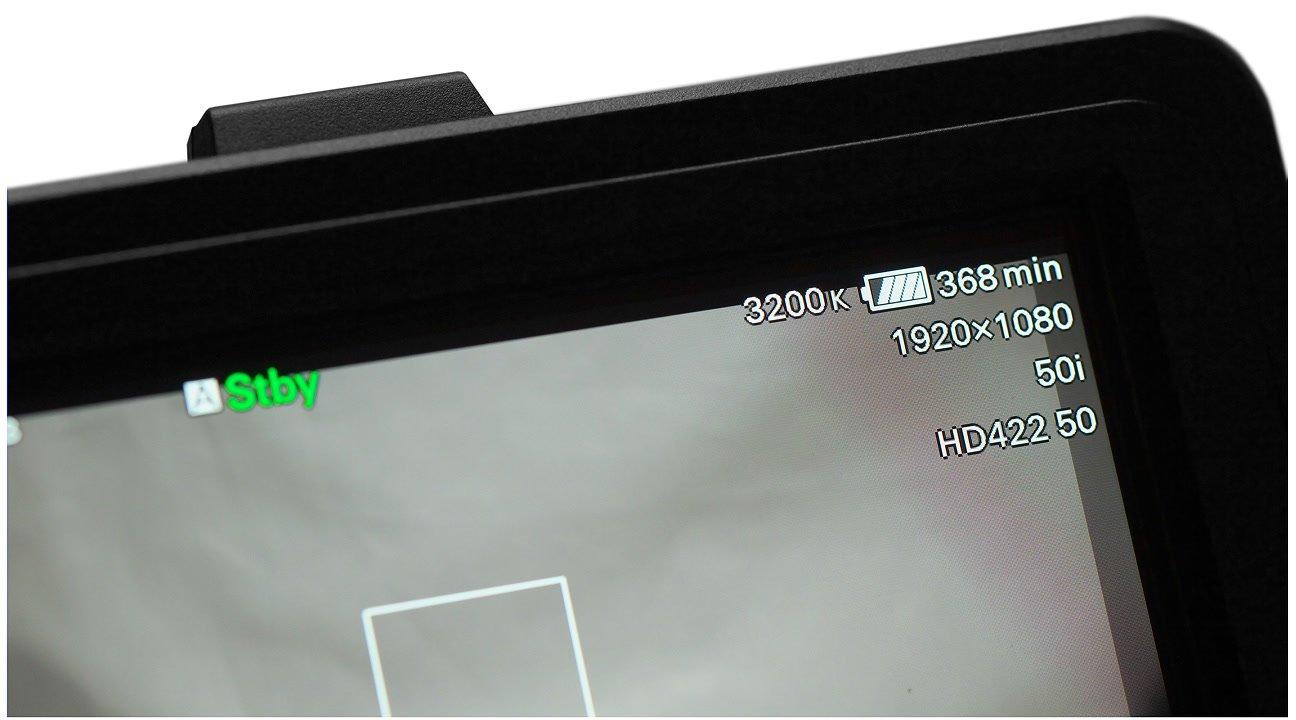 Durch den Infochip zeigt die Sony FS7 den Ladezustand des BP-U Akkus an.