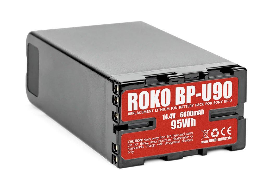 Der ROKO BP-U90 Akku hat viel Leistung für eine Sony FS7.