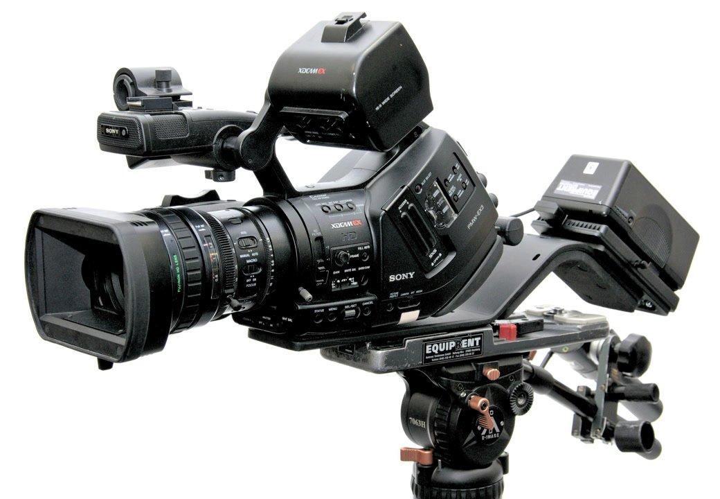Sony EX3 mit ROKO Brace Schulterstütze.