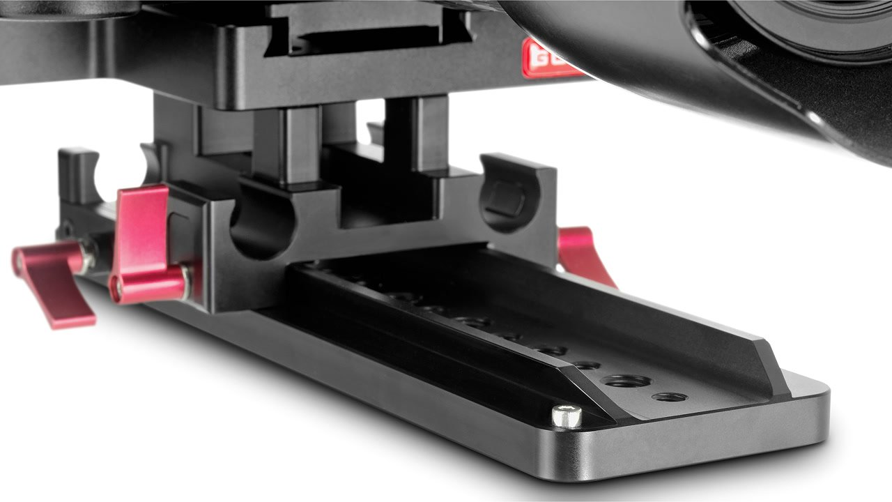 Dovetail Stativplatte verfügt über Stopper vorne und hinten.