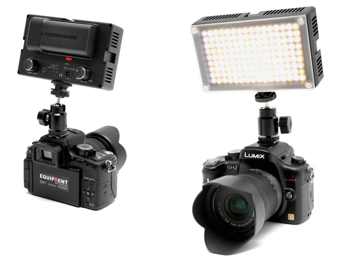 Panasonic GH2 mit ROKO LED144 Leuchte.