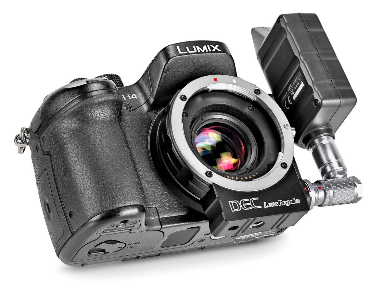 GH4 mit LensRegain Adapter ohne Objektiv.