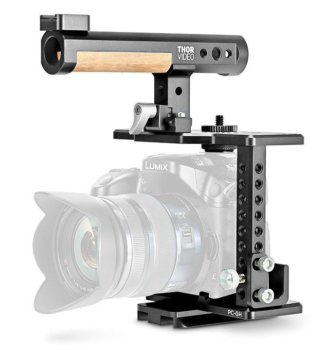 THOR Video PC-GH passgenauer Kamerakäfig für Panasonic GH3 und GH4.