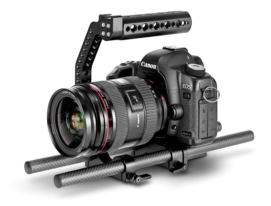 Canon 5D Mark II auf flacher Baseplate.