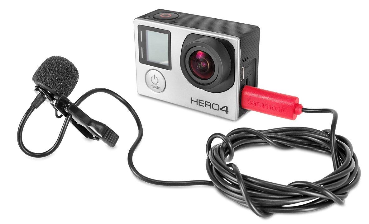 Saramonic SR-GMX1 Ansteckmikrofon für GoPro Hero 3 3+ und 4.