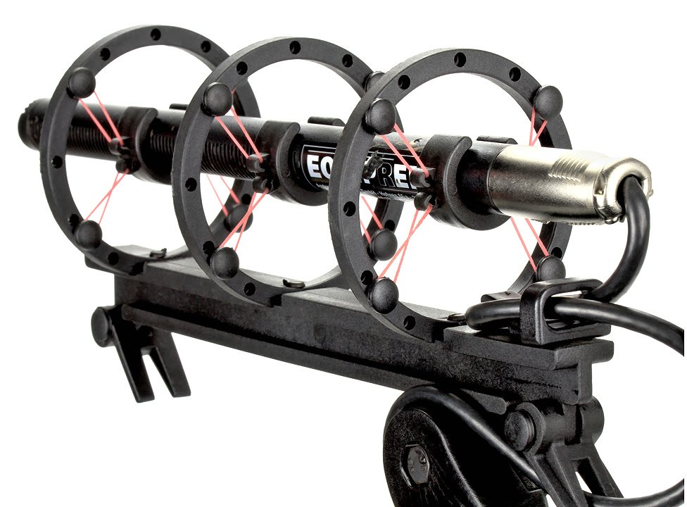 Sennheiser MKH416 in Mikrofonspinne des PROAIM R40 Windkorbes.