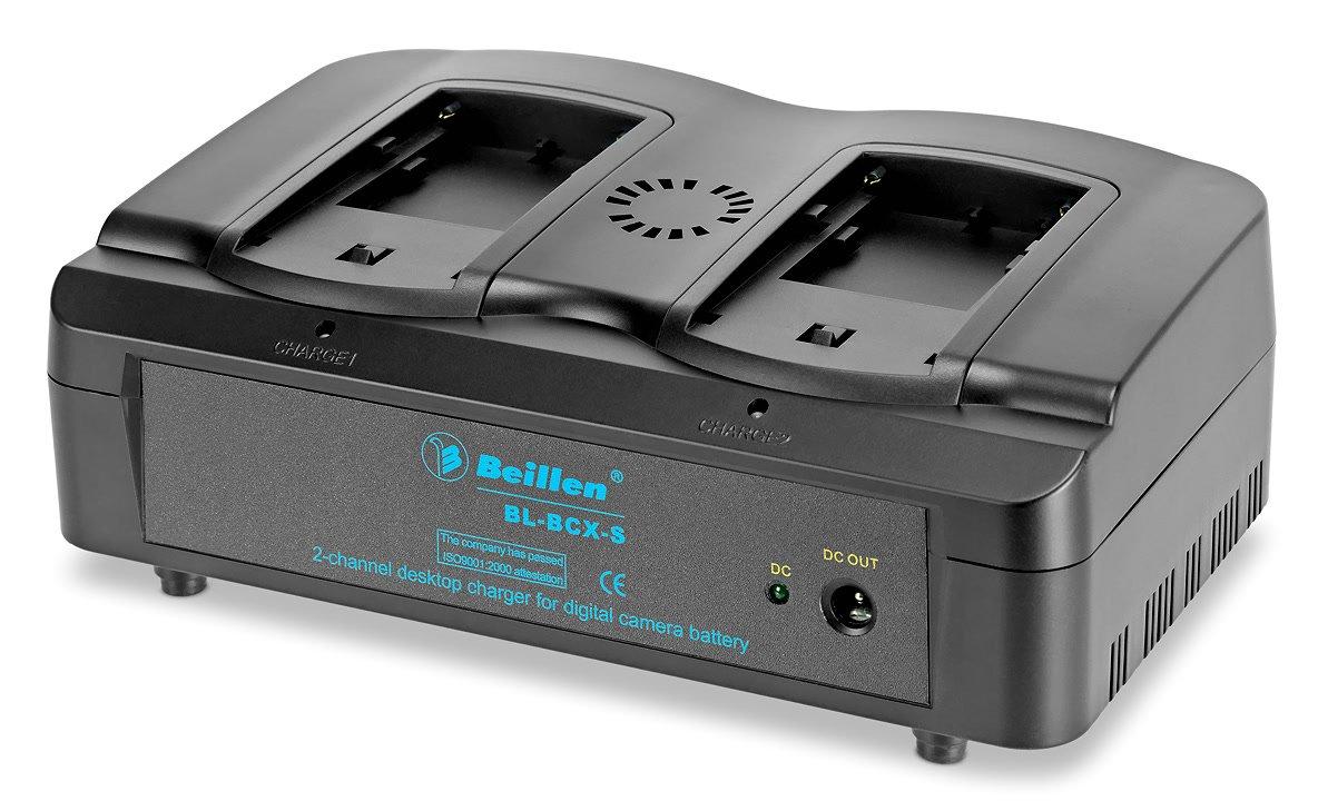 BEILLEN BL-BCX-S Doppelparallelladegerät für Sony NP-F Akkus.
