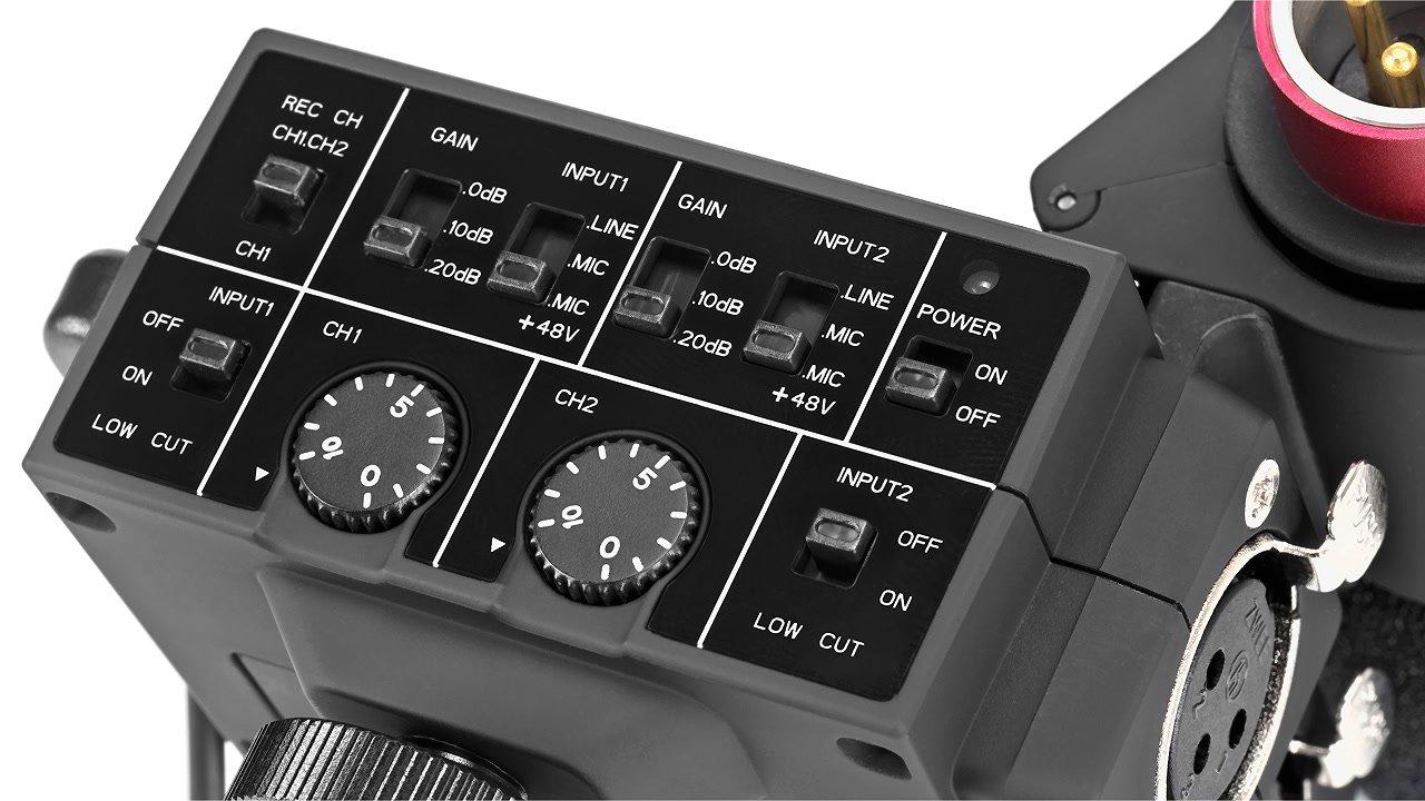 Schalter am MixMic Audiomischer.