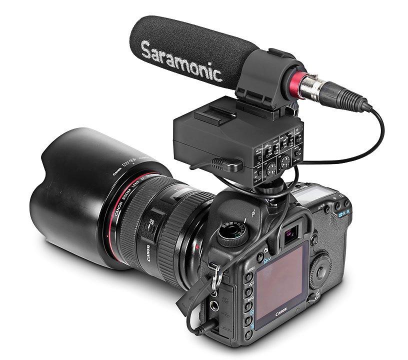 Canon 5D Mark II mit Saramonic MixMic.