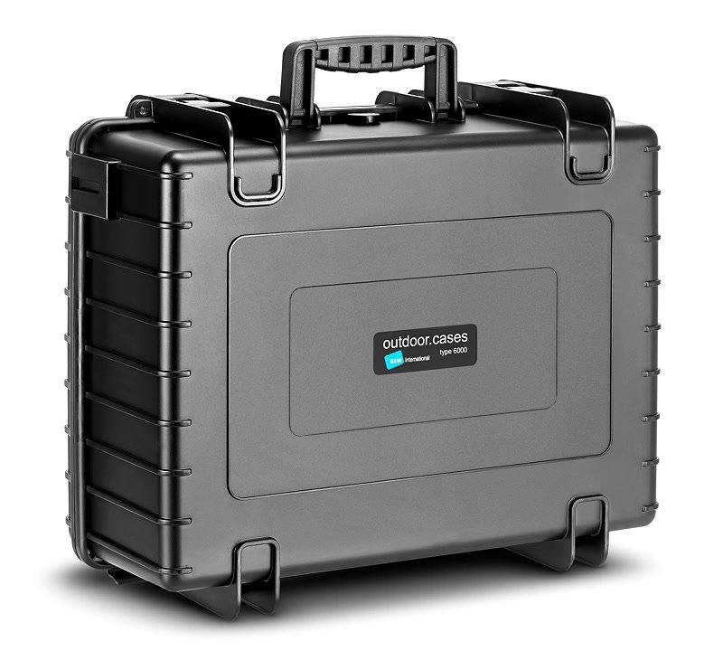 Rückseite B&W type 6000/B Koffer.