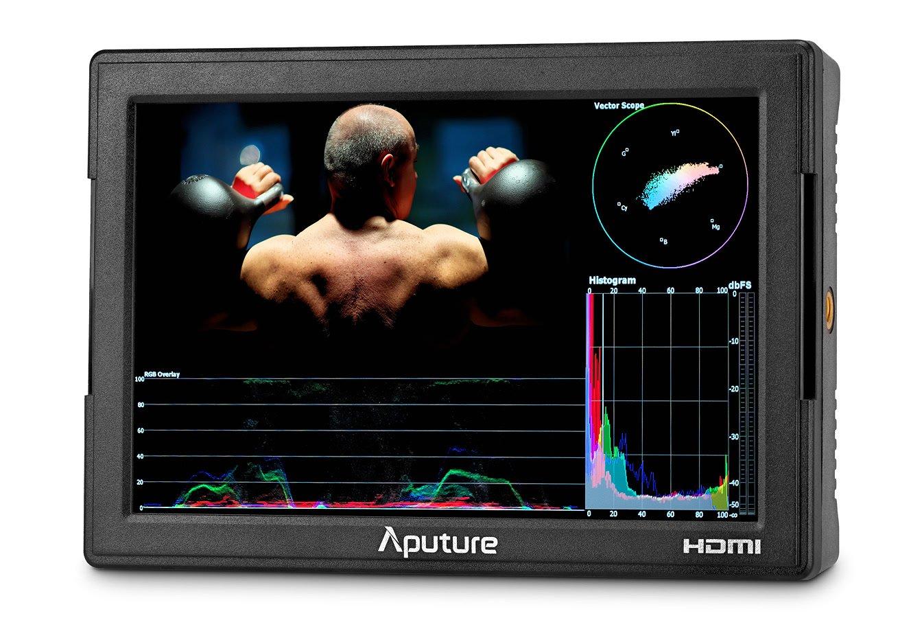 Aputure VS-5 PRO Full HD 17.8cm Monitor mit HDMI und HD-SDI.