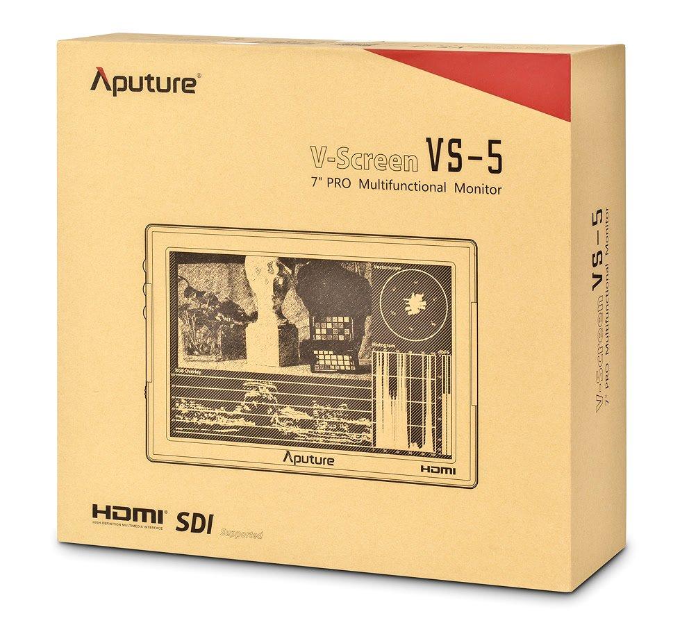 Verpackung Aputure VS-5 Pro Monitor.