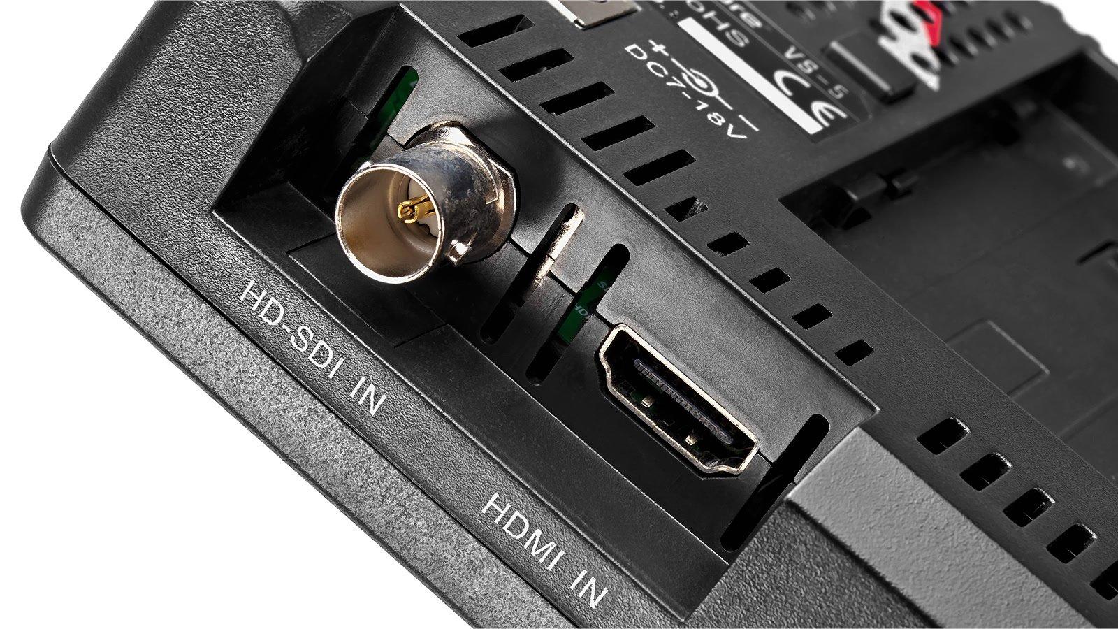 HDMI und SDI Videoeingänge.