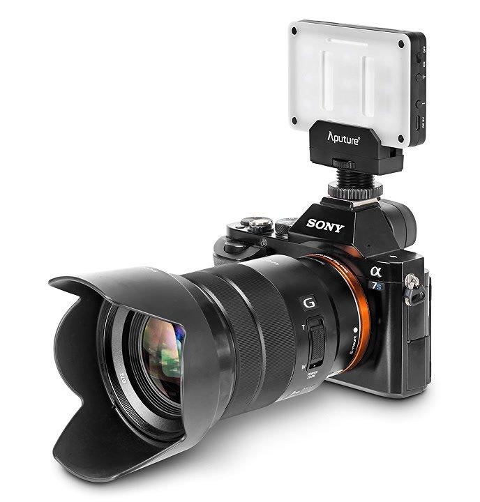 Sony A7S mit Aputure AL-M9.