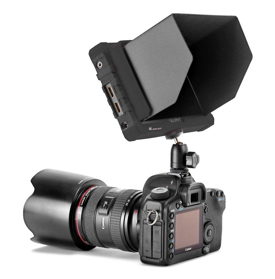 Der Monitor passt ideal zu Kameras wie der Canon 5D Mark II.