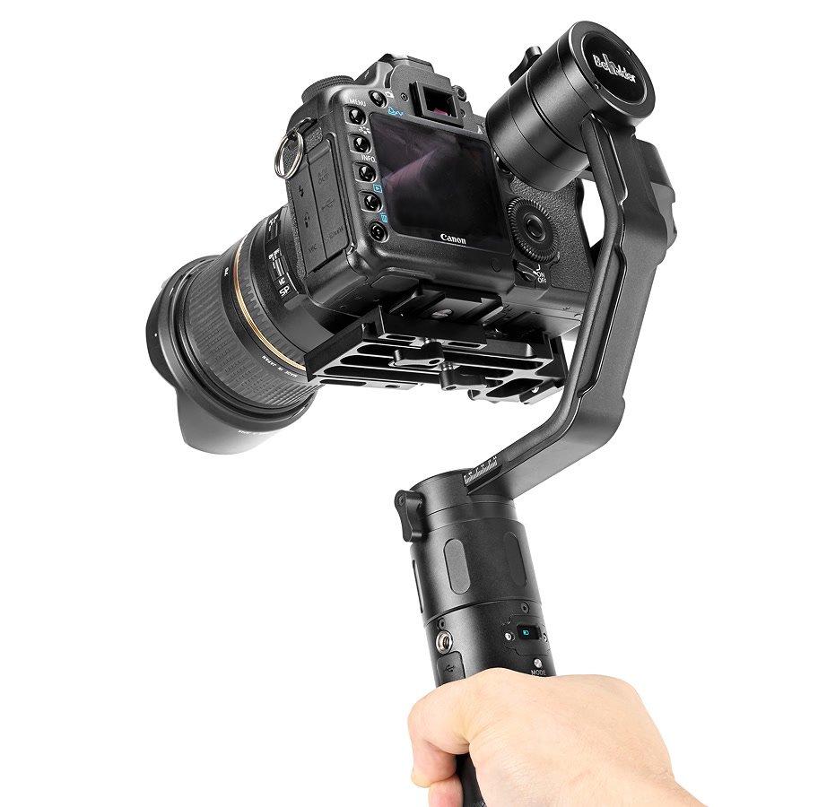 Canon 5D Mark II mit Tamron 24-70 auf Gimbal.